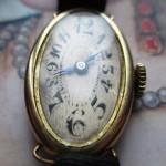 01 ceas vintage  Tavannes din aur de 14k, mecanism Cyma 061