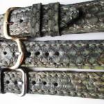 01 curea ceas din piele de sarpe Dolichophis Caspius