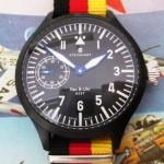 01 ceas Steinhart Nav B-Uhr mecanism Unitas 6497-1