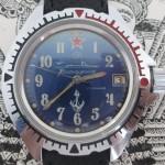 01 ceas Komandirskie submarin, mecanism Wostok 2414