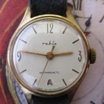01 ceas Ruhla dama, mecanism UMF 24