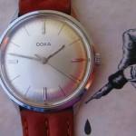 01 ceas Doxa Grafic mecanism Doxa 103 (ETA 2391)