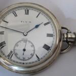 01 ceas buzunar Elgin argint mecanism Elgin 151