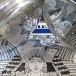 03 ceas buzunar Elgin argint mecanism Elgin 151