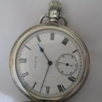 07 ceas buzunar Elgin argint mecanism Elgin 151