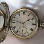 09 ceas buzunar Elgin argint mecanism Elgin 151