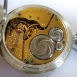 14 ceas buzunar Elgin argint mecanism Elgin 151