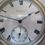 16 ceas buzunar Elgin argint mecanism Elgin 151
