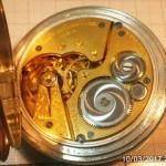 19 ceas buzunar Elgin argint mecanism Elgin 151